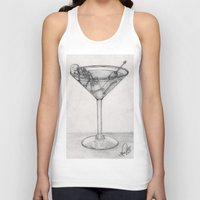 martini Tank Tops featuring Addiction martini by CharlieValintyne