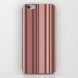 Striped Pattern (quiet shades of brown) iPhone Skin