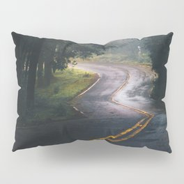 GREY - CONCRETE - ROAD - DAYLIGHT - JUNGLE - NATURE - PHOTOGRAPHY Pillow Sham