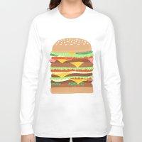 burger Long Sleeve T-shirts featuring BURGER by Hannah Bailey