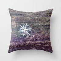 snowflake Throw Pillows featuring snowflake by Bonnie Jakobsen-Martin