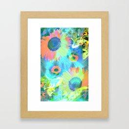 Psych Flower Framed Art Print