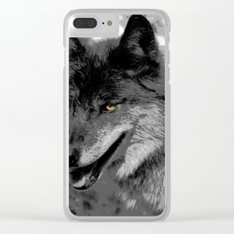 Alpha Male Wolf Clear iPhone Case