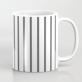 Vertical Dark Grey Stripes Pattern Coffee Mug