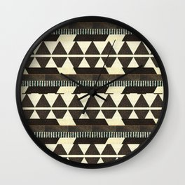 Aztec pattern Wall Clock