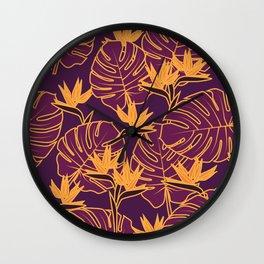 Purple Jungle Wall Clock