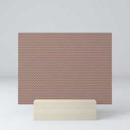 Sherwin Williams Cavern Clay Warm Terra Cotta SW 7701 Chevron Zigzag Horizontal Line on Slate Violet Mini Art Print