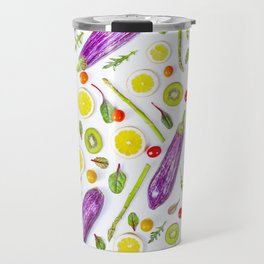 Fruits and vegetables pattern (29) Travel Mug