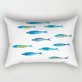tropical minnows Rectangular Pillow