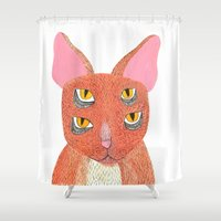 scary Shower Curtains featuring Scary Gary by attack laur