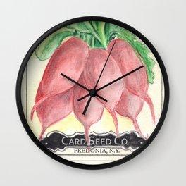 Radish Seed Packet Wall Clock