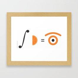 orange integral Framed Art Print