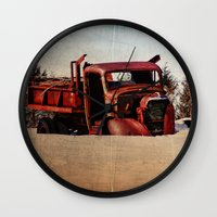 truck Wall Clocks featuring Survivor Truck by PamelasDreams