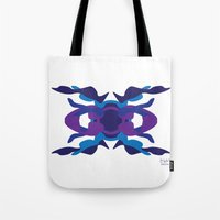 spaceship Tote Bags featuring Spaceship by David Nuh Omar