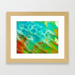 orange twist Framed Art Print