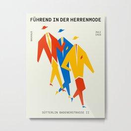 Men | Bauhaus IV: Off-White Edition Metal Print