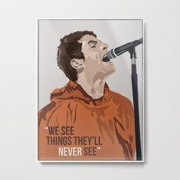 Liam galla-gher poster Metal Print