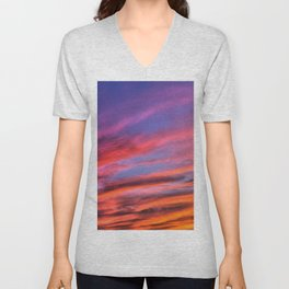 colorful clouds x Unisex V-Neck
