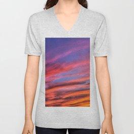 colorful clouds x Unisex V-Neck