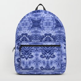 Blue and White Classic Psychedelic Subtle Print Backpack