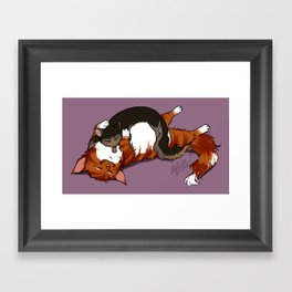 Thulo murtano, sani muca (Fat cat, skinny cat) Framed Art Print
