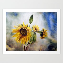 "Oil painting ""Sunflower"" Art Print"