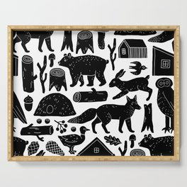 Forest Critters Serving Tray