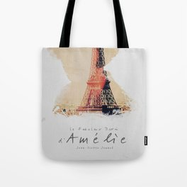 Amelie, minimalist movie poster, french film playbill, the fabulous life of Amélie Poulain, Tote Bag