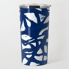 Blue Squiggles Travel Mug