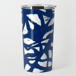 Blue Squiggles Travel Mug