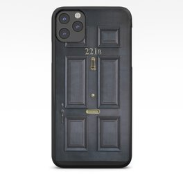 Haunted black door with 221b number iPhone Case