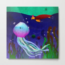 Mr. Jellyfish Metal Print