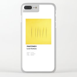 Pantone lucio fontana Clear iPhone Case