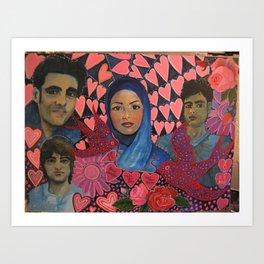 Iranian Student Protestors  Art Print