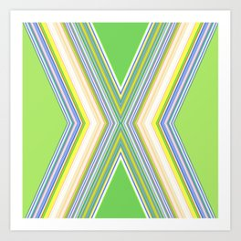 Electric Green Yellow Pattern Art Print