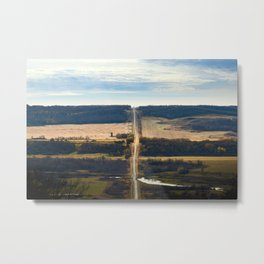 Pembina River + Valley Metal Print