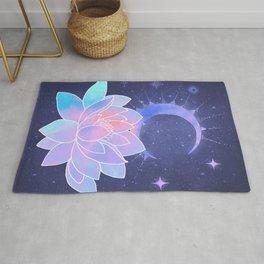 moon lotus flower Rug