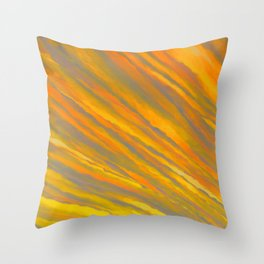 Canary Yellow Throw Pillow