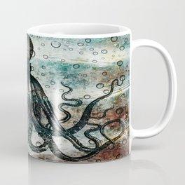 Octopus In Stormy Water Coffee Mug