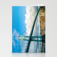 marc johns Stationery Cards featuring St. Johns Bridge by Kai Hayashi Photography