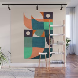 Two birds dancing Wall Mural