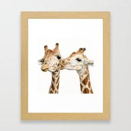 Smooches (Square Format) Framed Art Print
