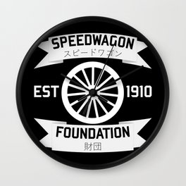 Speedwagon Foundation - JoJo's Bizarre Adventure Wall Clock