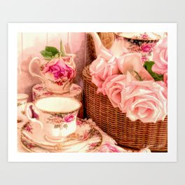 Teacups and Roses 4 Art Print