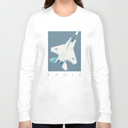 F15 Eagle Supersonic Fighter Jet Aircraft - Slate Long Sleeve T-shirt
