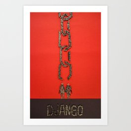 032: Django - 100 Hoopties Art Print