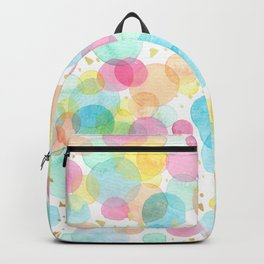 Pop Party Confetti - Peach Pink Teal Backpack
