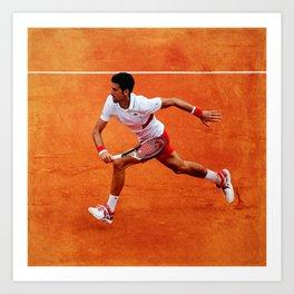 Novak Djokovic Running Art Print