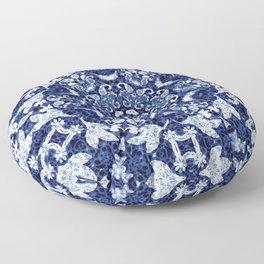 Boho Blue Medallion Floor Pillow