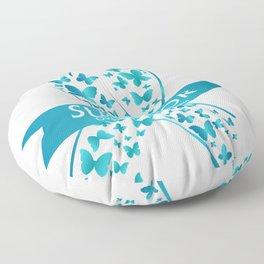Survivor Ovarian Cancer Awareness Floor Pillow